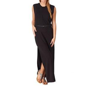 G-Star Black Bodini Maxi Dress with High Slit